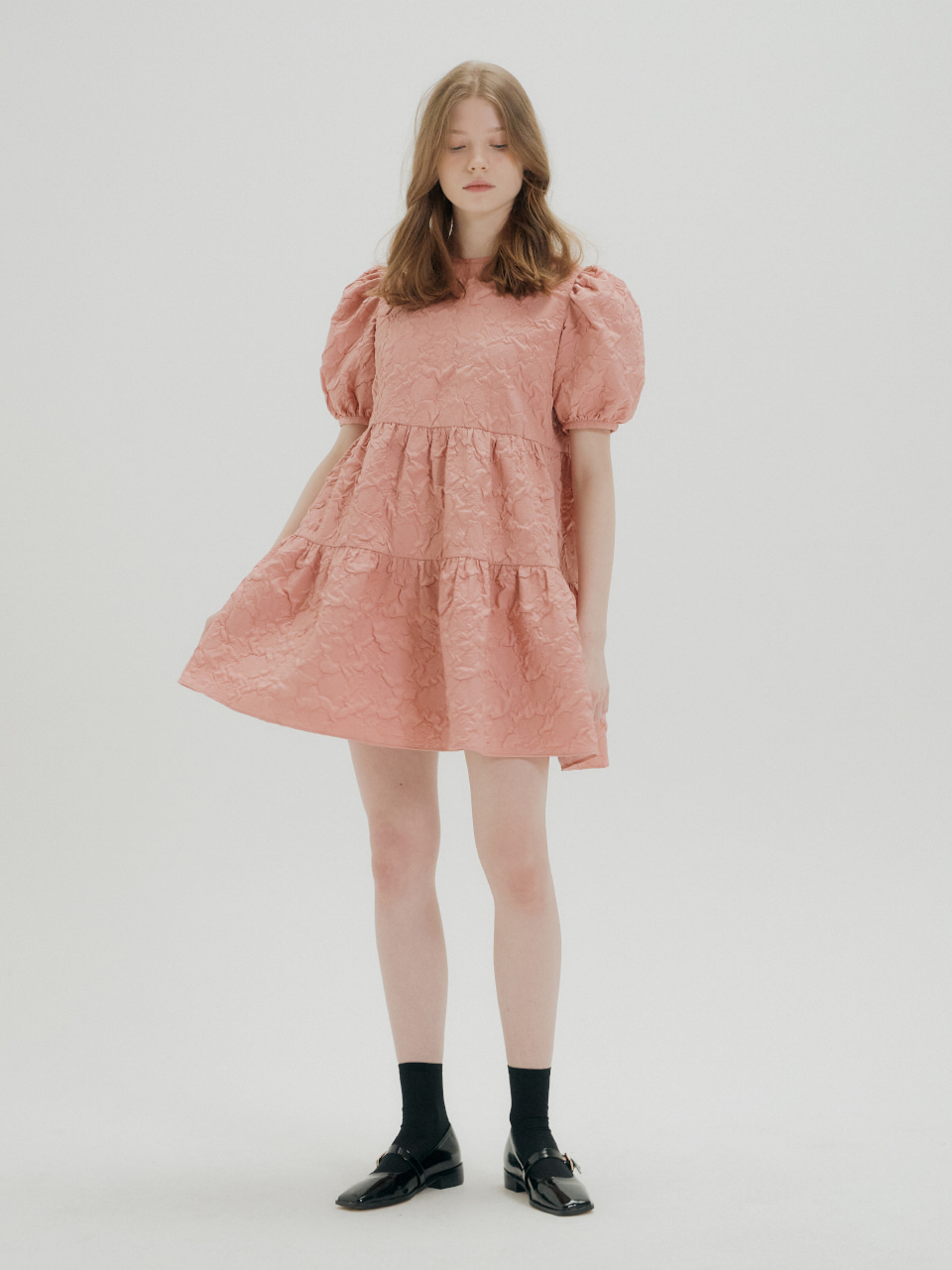 [예약주문_4/21 출고 예정]ROSE PATTERN MINI DRESS_PINK