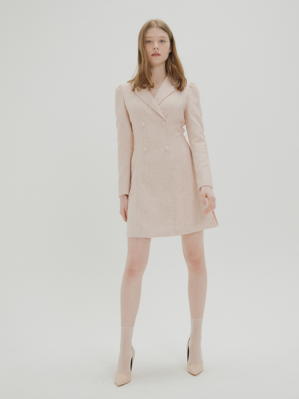 TWEED MINI DRESS_PINK